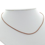 Leather Cord Necklace - 46cm (Brown) - 1 Cord Necklace
