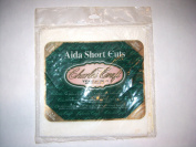 CHARLES CRAFT 14 Count AIDA Cloth (White, Ivory, Antigue White) 6 Pieces of 15cm x 15cm Short Cuts