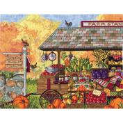Janlynn Buck's County Farm Stand Counted Cross Stitch Kit, 41cm x 30cm