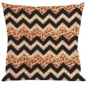 Tobin Needlepoint Kit Stitched in Yarn, 30cm by 30cm , Leopard Zig Zag