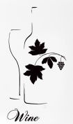Wine Vine Bottle Grape And Glass Rubber Stamps custom stamps rubber