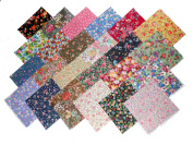 48 25cm Layer Cake NEW Among the Flowers Quilt Fabric Squares- 48 DIFFERENT PRINTS - 1 OF EACH