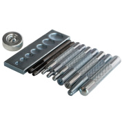 Craft Tool Die Punch Snap Kit Rivet Setter with Base for Punch Hole and Instal Rivet Button