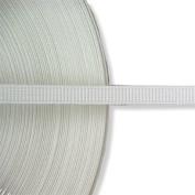 Hemline N4332.W | White Polyester Uncovered Boning 8mm x 40m