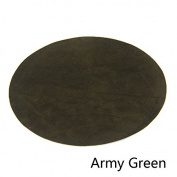 Repair Patches - 4 PCS Elbow Knee Velvet Iron-on Patches, Round & Army Green - by Beaulegan