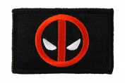 Deadpool Funny Tactical hook and loop Fully Embroidered Morale Tags Patch