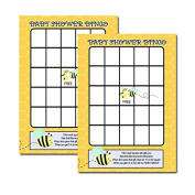Bumble Bee Baby Shower Bingo Activity Game 20-pack