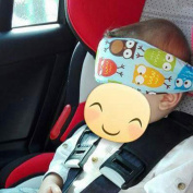 Baby Kids Car Seat Neck Relief Head Support Band with Adjustable Belt Random Colour