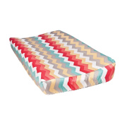 Trend Lab Waverly Pom Pom Play Changing Pad Cover, Chevron