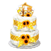 Gender Neutral Burt's Bees Newborn Baby Nappy Cake Gift