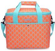 MIER 18L Large Soft Cooler Picnic Bag Portable Women Lunch Box Carrier, Bright Orange Colour