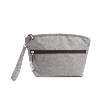7 A.M. ENFANT Clutch Bag, Heather Grey, Small