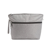 7 A.M. ENFANT Clutch Bag, Heather Grey, Large