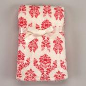 Baby Girl Damask Print blanket 80cm X 100cm