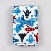 Baby Spaceship Soft Blanket 80cm X 100cm