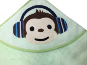 Hooded Baby Towel By redlighthouse - 100% Premium Quality, Incomparably Soft, Organic Cotton - Thick, Protective, Unisex Bath Towel For Baby Boys & Girls - Generously Sized - Striking Green Colour