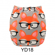 Alva Baby New Printed Design Reuseable Washable Pocket Cloth Nappy Nappy + 2 Inserts YD18