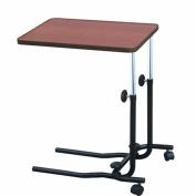 Rehabilitation Advantage Over Bed Table Wood Grain Laminate Tilt Top, Height Adjustable, 6.3kg