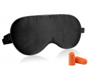 Fitglam Natural Silk Sleep Mask, Best Sleeping Eye Cover for Travel, Nap, Meditation, Blindfold with Adjustable Strap for Men, Women or Kids