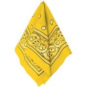 Multi-Purpose Bandana Western Cowboy Costume Party Headwear, Yellow, Fabric, 50cm x 50cm .