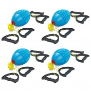 Prextex Zoom Ball (4 Pack) Outdoor Game Zip Ball Game With 2 Water Shooters