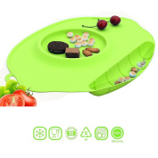 Vine Portable Baby Antibacterial Waterproof Placemat with Sucker Dining Mat for Kids Silicone Plate For Baby