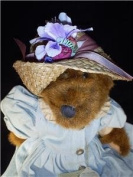 Boyds Bear Plush Collector's AUGUSTA #91010 14 Vintage Look Baby Blue Dress Bear TJ's Issued & Retired 1998 Value