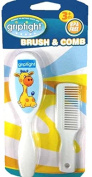 Griptight - Giraffe Design Soft Bristle Brush and Comb Set