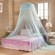 Bluelans® Blue Mosquito Net Princess Bed Canopy Polyester, Fly Insect Protection, 60cm x 280cm x 850cm