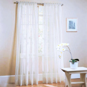 Anself 2Pcs 100*200cm Voile Curtains Window Curtains for Living Room Decorations