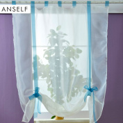 Anself Voile Curtains for Bedroom 100*140cm / 140*140cm