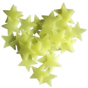 Butterme 100 Pcs Fluorescence Glow in Dark Luminous Star Wall Stickers Decals Star Nursery for Baby Kids Living Room Bedroom Home Decoration