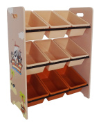 Bebe Style Large Wooden Storage Unit With 9 Plastic Bins - Pirate Themed