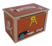 Bebe Style Children's Pirate Wooden Treasure Chest Toy Box!