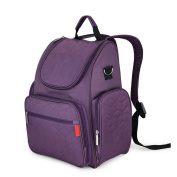 Tofern Multi-functional Fashion Waterproof Mummy Baby Nappy Nappy Changing Backpack Shoulder Bag, purple