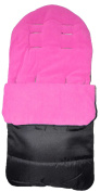 Universal Footmuff Cosy Toes Fits All Pushchair / Buggy / Stroller Pink Rose