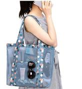 SwirlColor Large Capacity Mesh Beach Tote Bag Pool Handbag With Pocket for Women