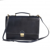 Briefcase in Italian Leather, Cartel, Man and Woman Business Bag Made in Italy 38x28x12 Cm