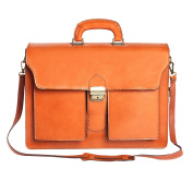 Briefcase in Italian Leather, Cartel, Man and Woman Business Bag Made in Italy 39x30x18 Cm