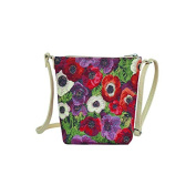 Signare Tapestry Sling Style Cross-body Satchel Bag in Pansy Design