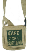 Fair Trade Guatemalan Hessian Jute Coffee Shoulder Bag N37s