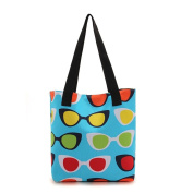 Oath_song Women's Polyester Waterproof Tote Bag Colourful Summer Beach Handbag