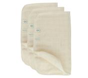 Green Fibres Set of 3 Organic Cotton Muslin Face Cloth