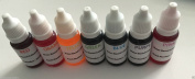 7 x 10ml Soap Water Based Concentrated Colourants