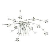 Bluelans® Women's Bridal Wedding Flower Diamante Crystal Rhinestones Hair Clip Comb