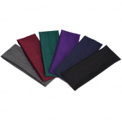eBoot 6 Pieces Stretch Elastic Yoga Cotton Headbands for Teens, Girls and Women