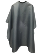 WM Beauty Classic Water Repellent Adjustable Salon Hair Cutting Cape with Snaps Closure, Grey
