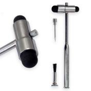 PTL® Babinski Buck neurological Reflex Hammer Percussion handle Pin & Bruch Prestige