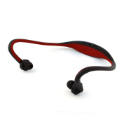 Pama PNG265 Bluetooth 4.1 Neckband Headphones with Mic Controls Sports Gym Running Wireless Headset for Mobile Phone - Black and Red