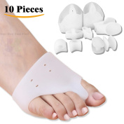 DR JK- Comprehensive Bunion Relief BunionPal Kit-10 Piece of BunionPals to Fight Bunion! Toe Separators, Bunion Corrector, Ball of Foot Cushions, Hallux Vagus, Toe Straighteners, Bunion Protector